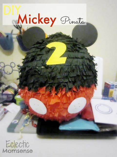 Mickey Mouse Piñata- easy DIY piñata.