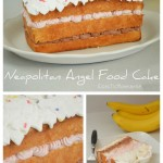 Neapolitan Angel Food Cake with Cool Whip Frosting