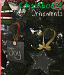 Chalkboard Ornaments: Frugal Handmade Ornament for only $.30
