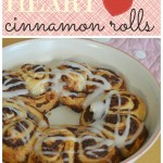 Heart Shaped Cinnamon Rolls for Valentines Day