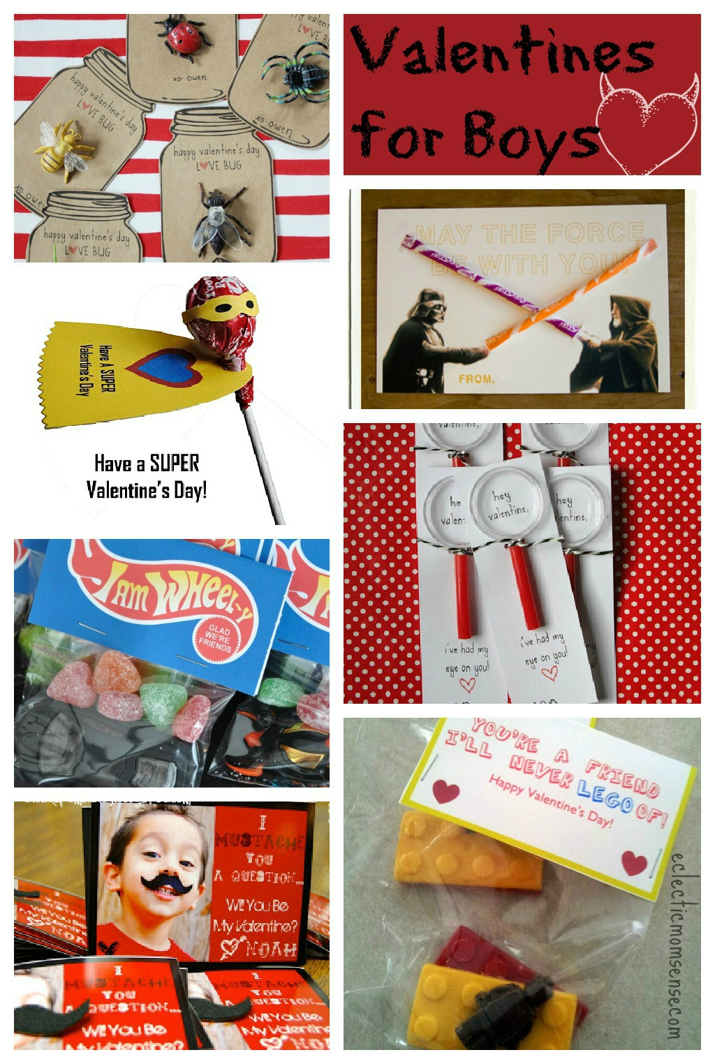 Valentines Ideas for Boys via @eclecticmommy - eclecticmomsense.com