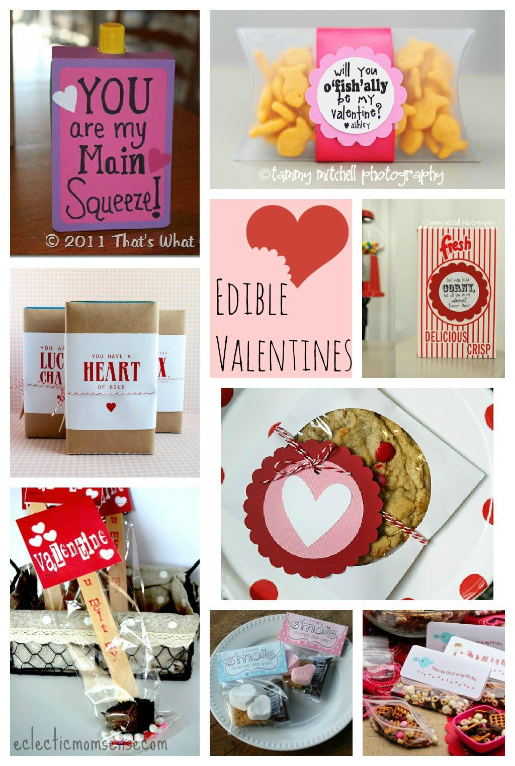 Edible Valentines Ideas via @eclecticmommy - eclecticmomsense.com