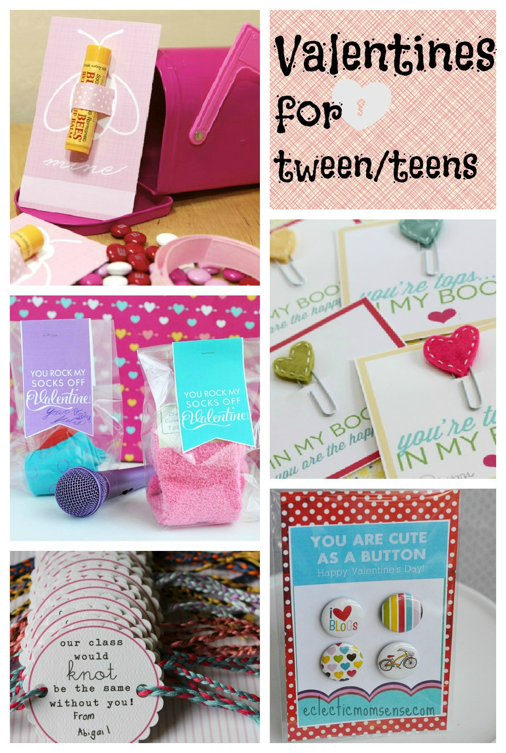 Valentines Ideas for Tween/Teens via @eclecticmommy - eclecticmomsense.com