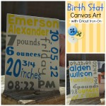 Birth Stat Canvas Art