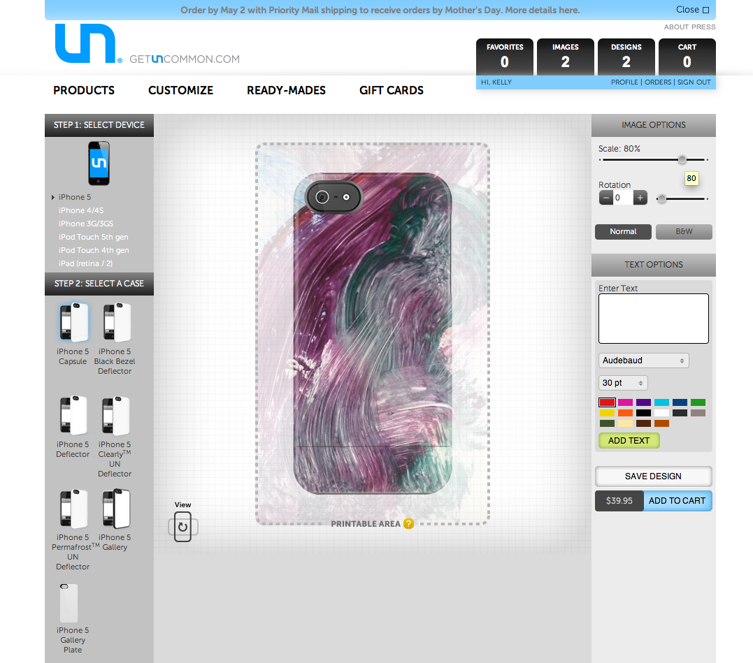 Personalize your iPhone case with your child's art work. #sponsored Get Uncommon