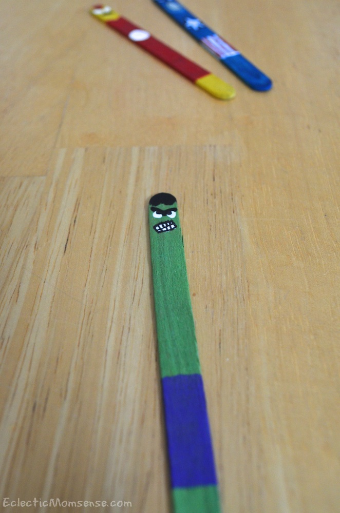 hulk popsicle stick