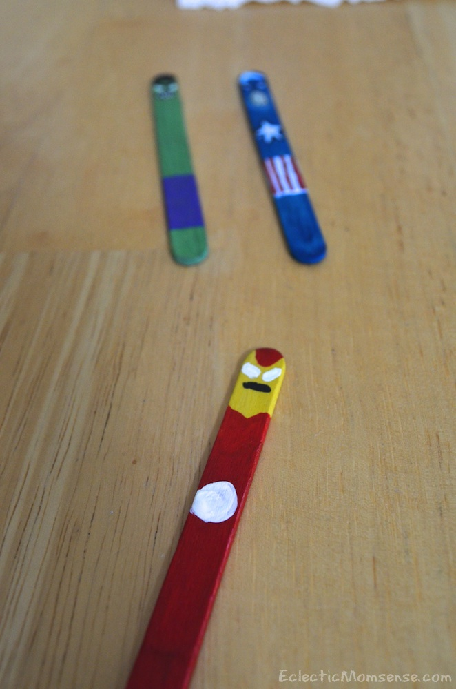 iron man popsicle stick