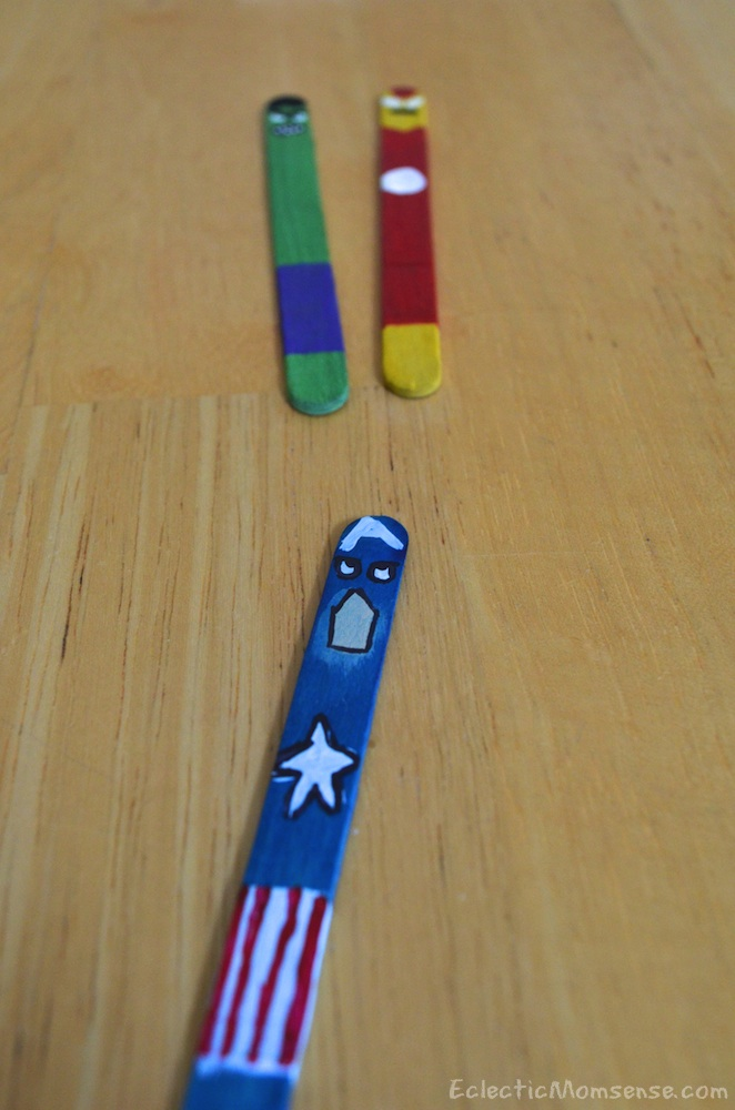 captain america popsicle stick