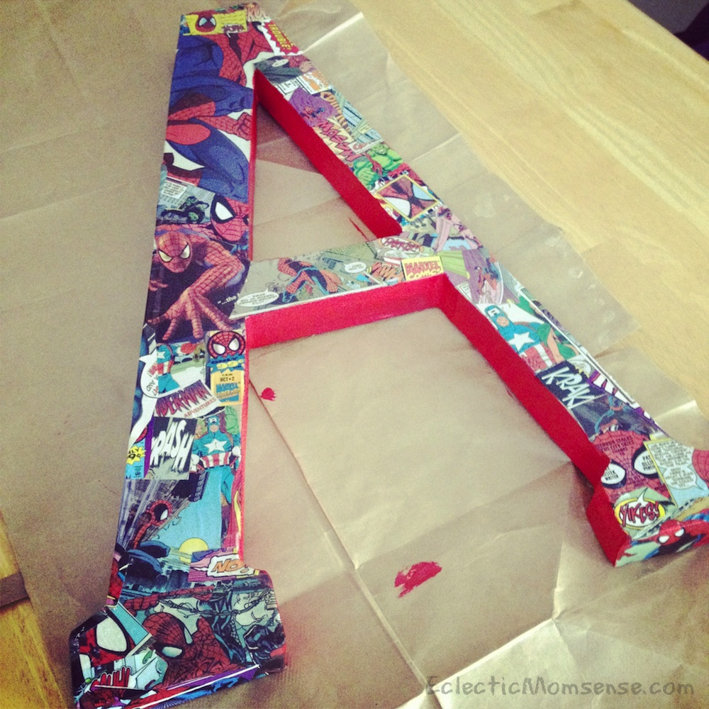turn old comics into fun bedroom decor for your little superhero eclectic momsense