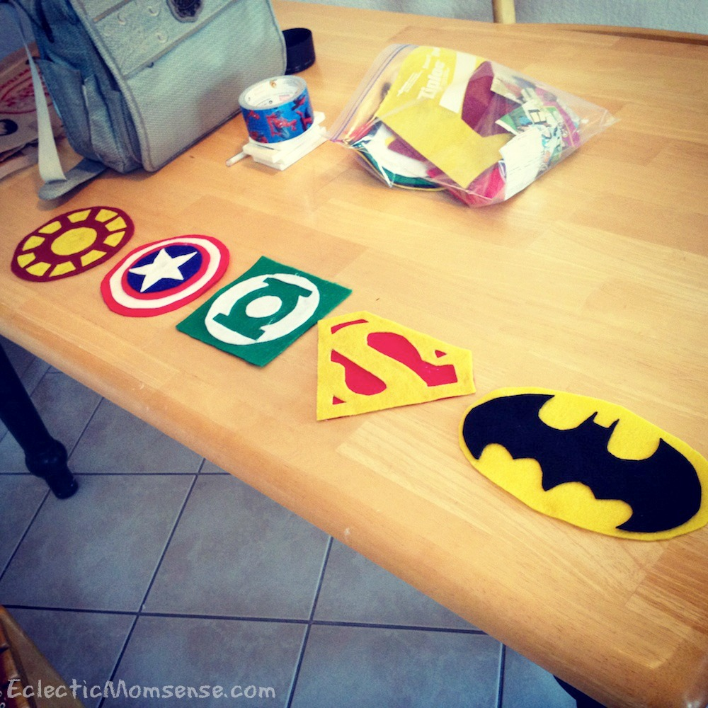 Inexpensive superhero party and room decor- Felt Superhero Banner