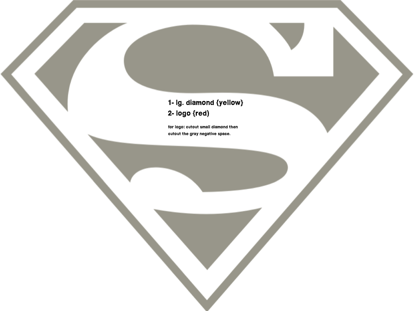 superman logo template for cake - the gallery for superhero logo template