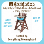 Keekaroo Height Right High Chair Giveaway