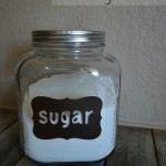 Vinyl Labeled Glass Pantry Jars