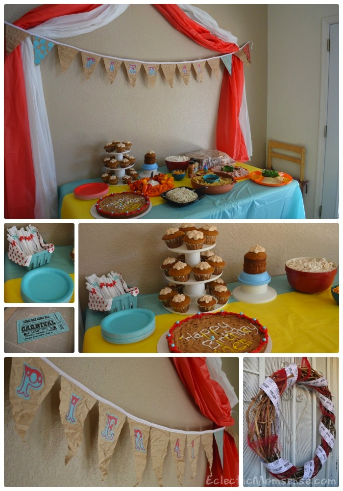 carnival birthday decor