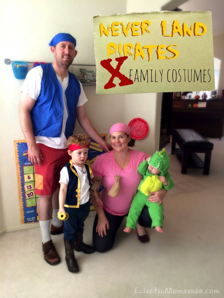 jake and the neverland pirates family costumes