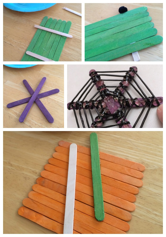 popsicle stick icon assembly