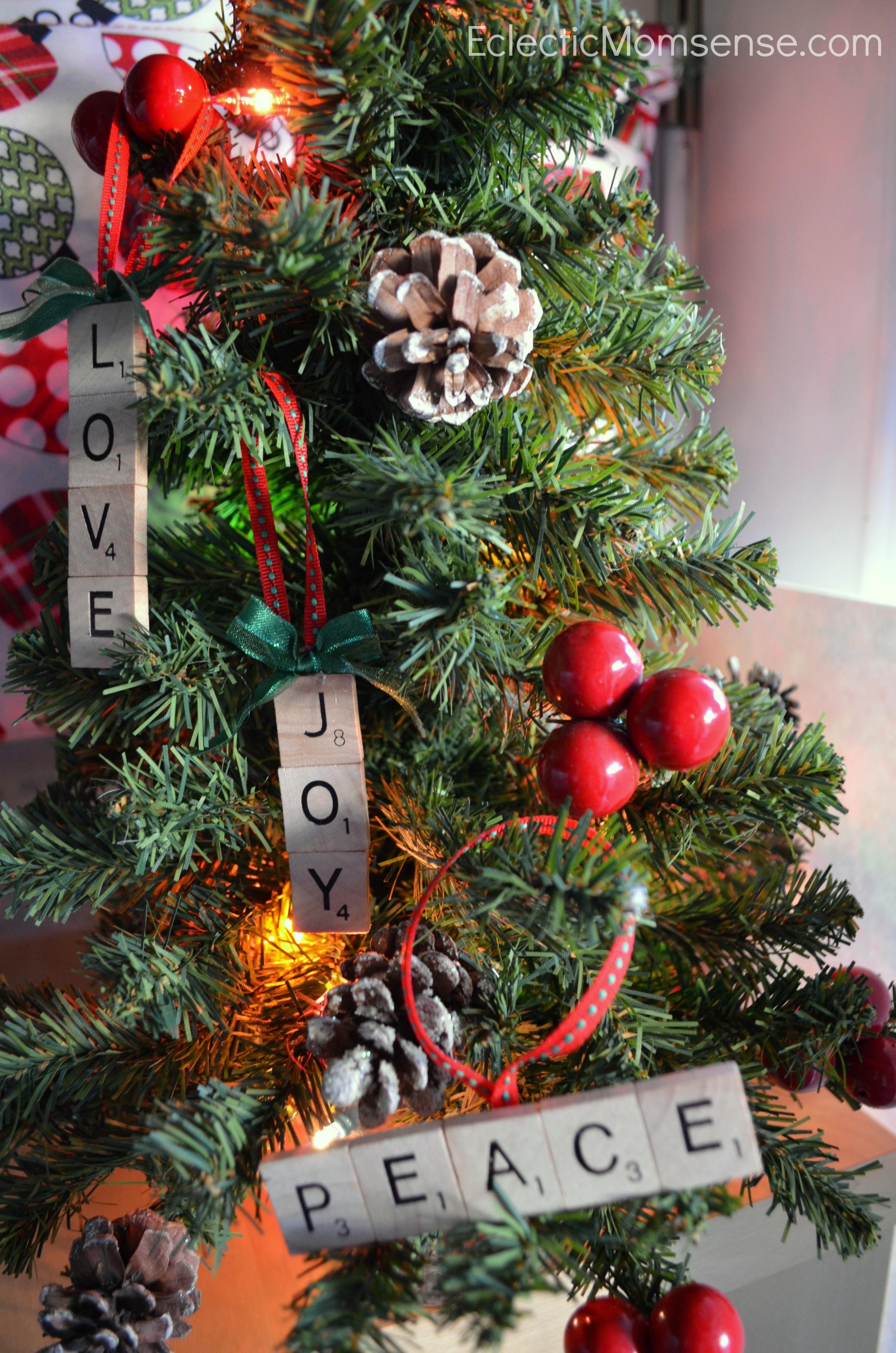 Personalized name ornaments - Scrabble Ornaments