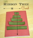 sewn ribbon tree card
