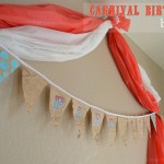 Upcycled Carnival Birthday Bunting