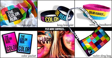 color run gear:  photo credit The Color Run