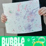 Bubble Painting with Homemade Colored Bubbles