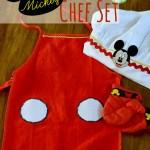 Chef Mickey Apron, Hat & Oven Mitt