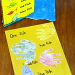 Dr. Seuss Handprint Art Inspiration: One fish, two fish, red fish, blue fish
