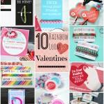 10 Rainbow Loom Valentines