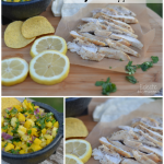 Lemon Pepper Chicken & Mango Pineapple Salsa