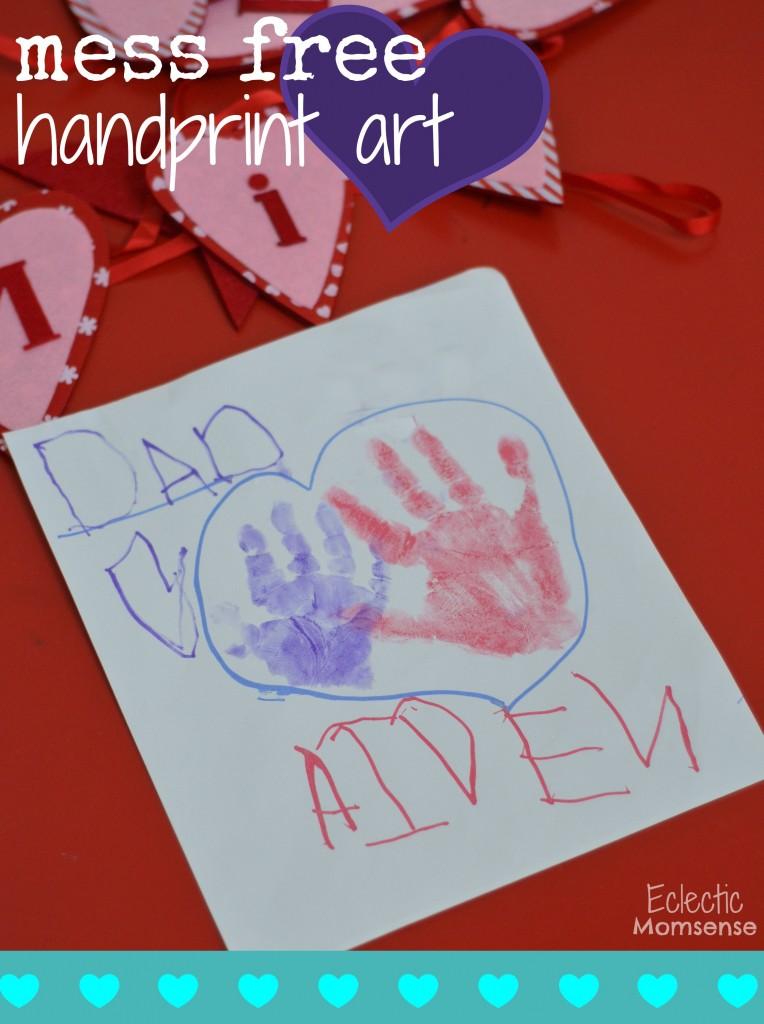 mess free handprint art