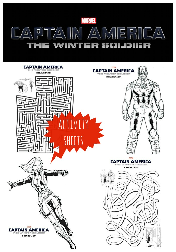 Captain america the winter soldier activity sheets for Captain america the winter soldier coloring pages