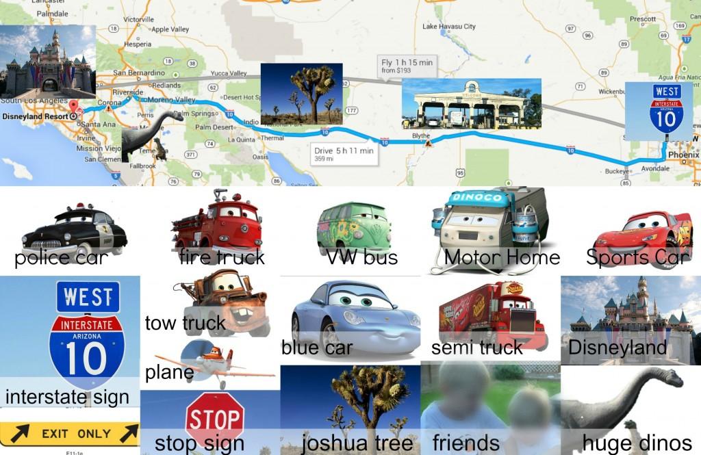 Disney, Disneyland, scavenger hunt, car bingo