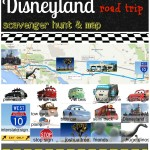 Disney Roadtrip Scavenger Hunt and Map