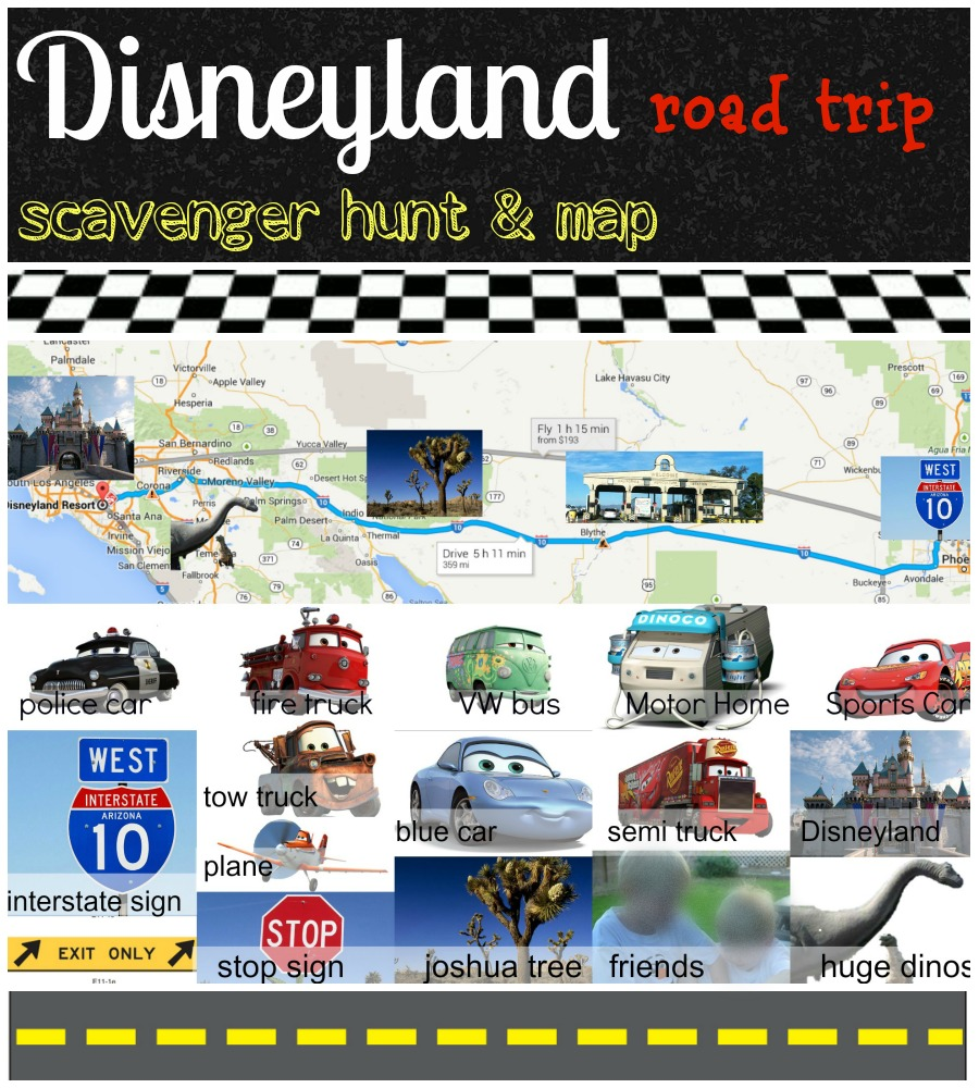 Disney, Disneyland, scavenger hunt, car bingo