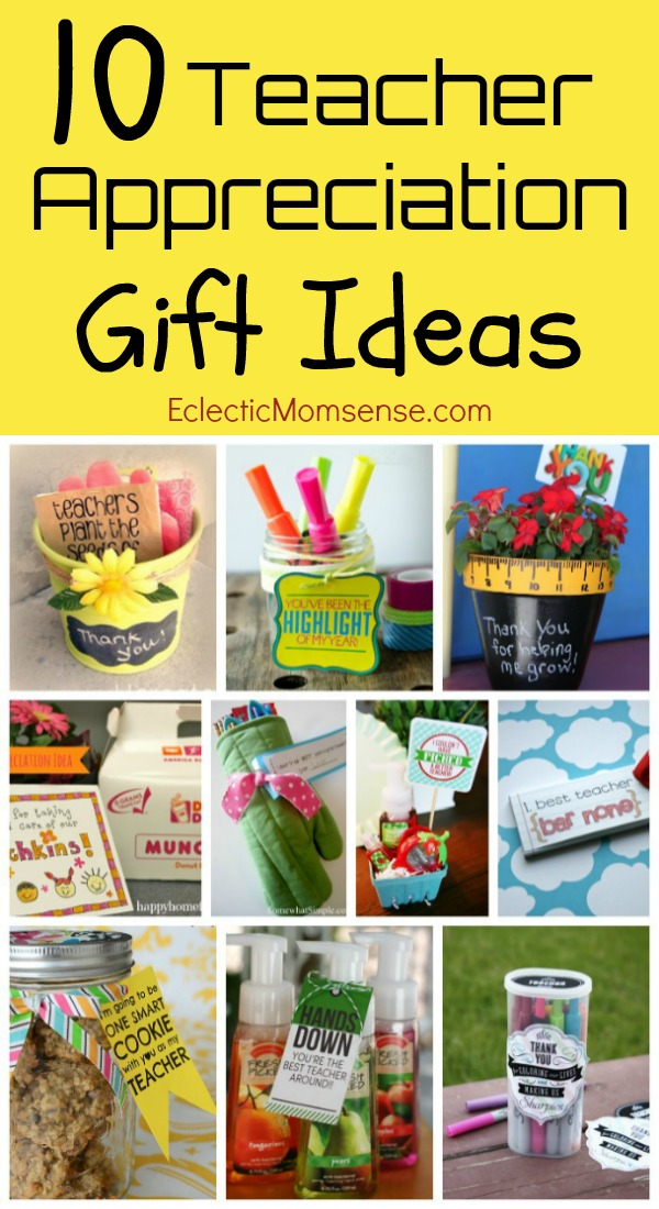 Teacher Appreciation Gift Ideas | 10 ideas + a printable favorite things inventory.