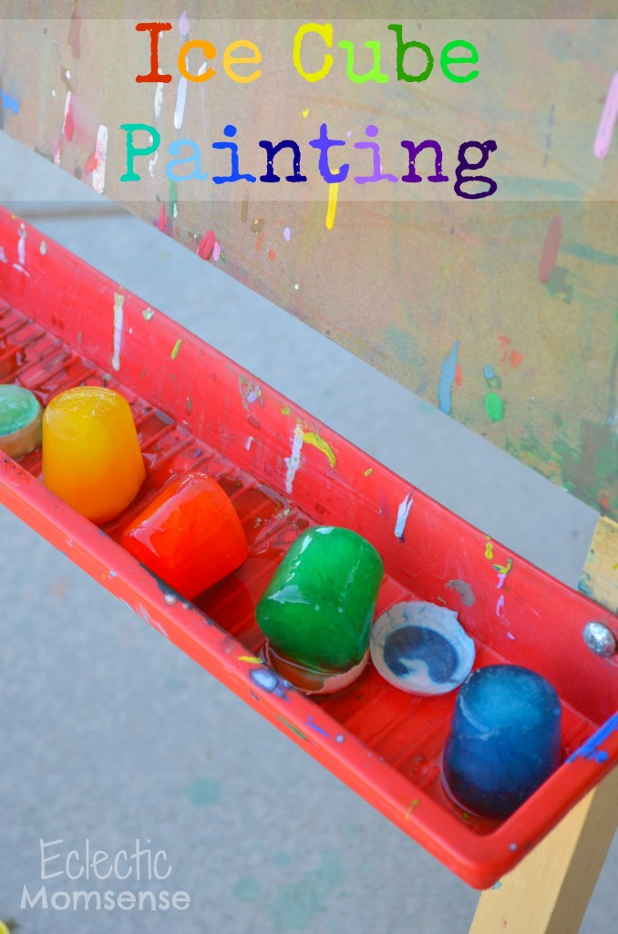 Ice Cube Painting, kids craft, kid art, summer fun