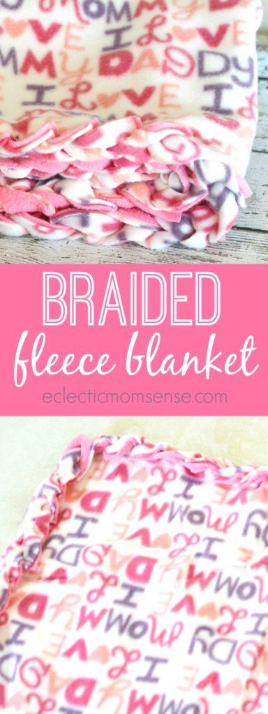 No-Sew Braided Fleece Blanket