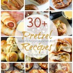 30+ savory, sweet, bread, and stuffed pretzel recipes.