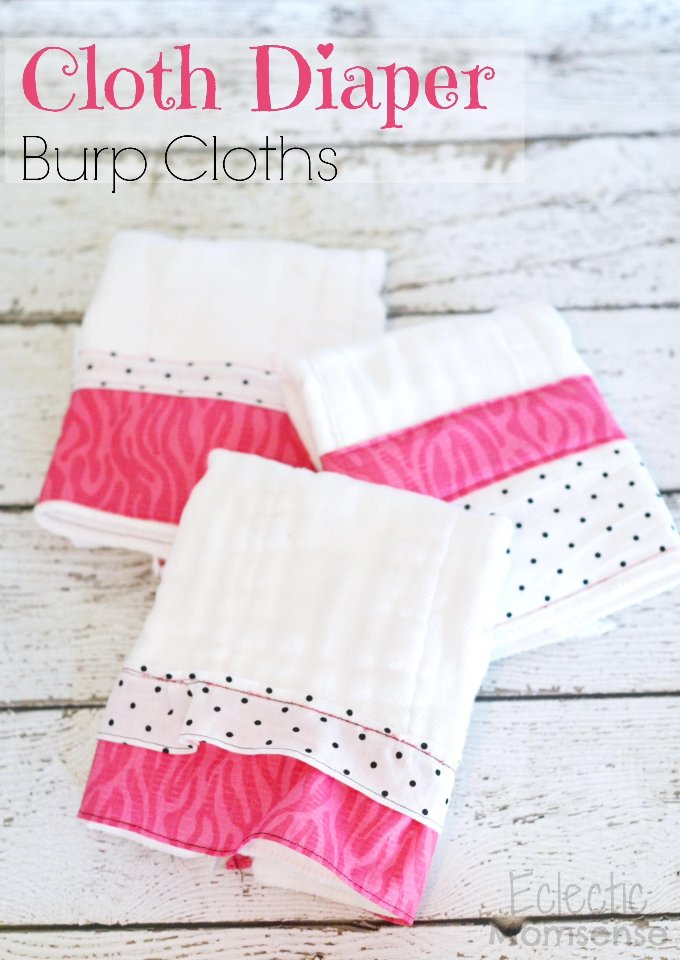 Cloth diaper burp cloths eclectic momsense easy diy cloth diaper burp cloths baditri Image collections