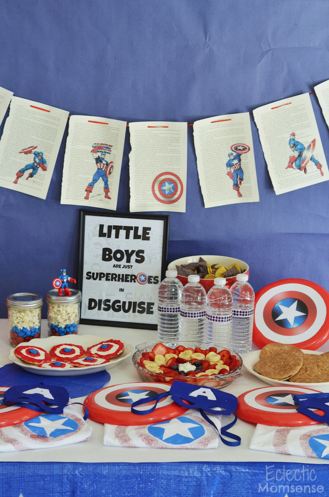 Superheroes, M&M's, Captain America, M&M recipes, #shop, #HeroesEatMMs