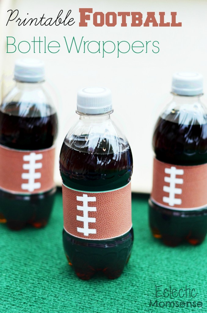 Printable Football Bottle Wrappers