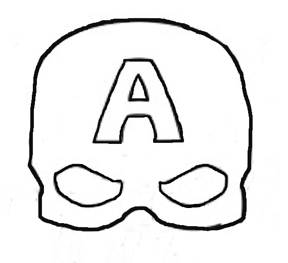 Super Simple Felt Captain America Mask Eclectic Momsense