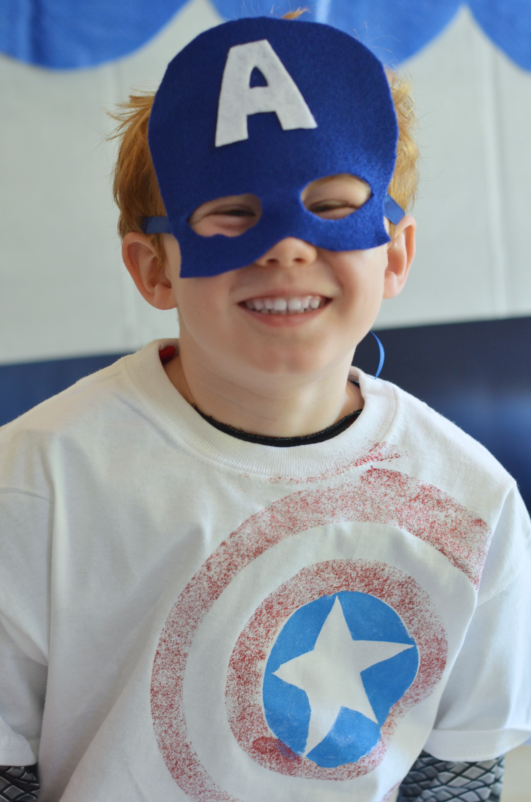 Super Simple Felt Captain America Mask Eclectic Momsense Avengers Batman