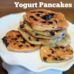 Whole Wheat Blueberry Buttermilk Yogurt Pancakes