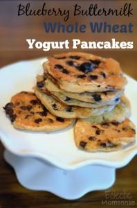 Blueberry Buttermilk Whole Wheat Yogurt Pancakes
