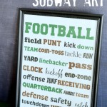 Football Subway Art {printable}