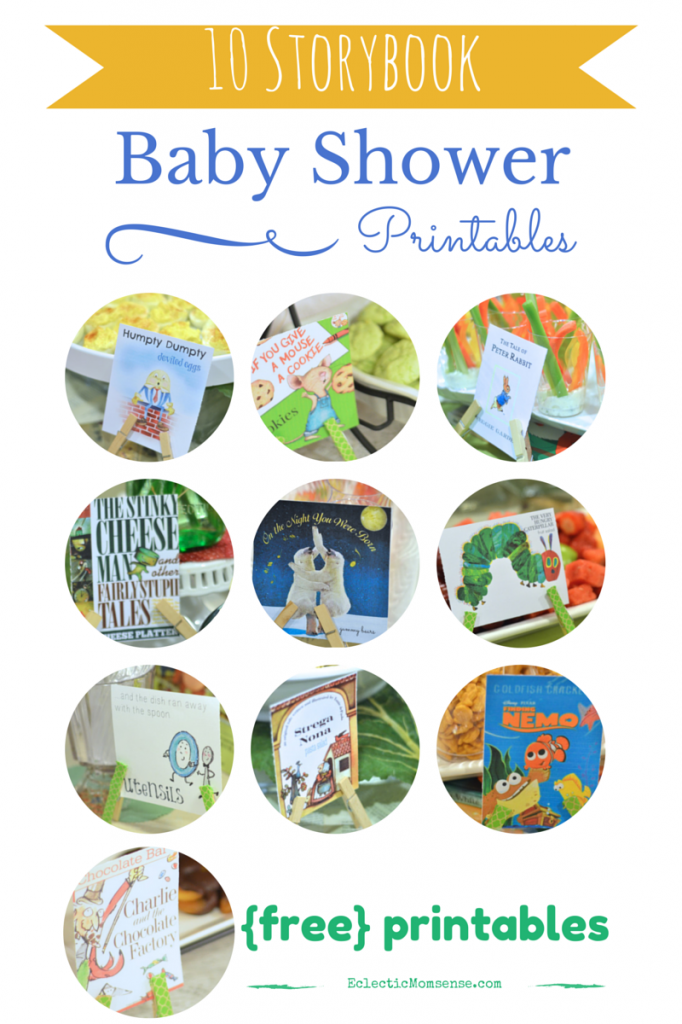 Storybook Baby Shower Printables #party #babyshower