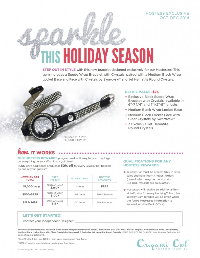Origami Owl Hostess Rewards #sponsored