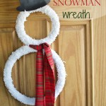 Easy Snowman Wreath