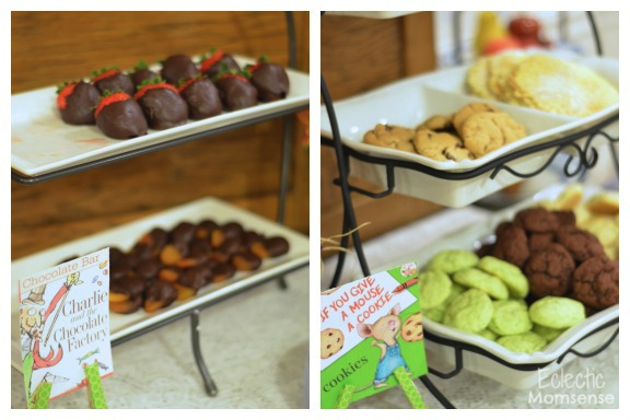 Dessert Table- - Storybook Baby Shower Ideas #party #babyshower